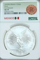 2020 MEXICO SILVER LIBERTAD 1 ONZA NGC MS 70 LOW MINTAGE SCARCE PERFECTION !!!