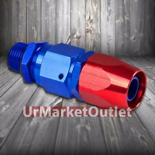 Red/Blue Straight Swivel Oil/Fuel/Fluid Line Hose End 10AN T1 Fitting Adapter