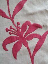 Harlequin Beige Raspberry Red Velvet Floral Curtain Fabric Material 5.5 Metres
