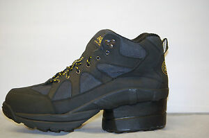 Z-Coil Outback CT FW-K3001 Men's 12 Black Leather/Green Mesh Safety Toe DS