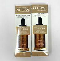 Skincare Cosmetics Retinol Enriched Anti-Wrinkle Facial Serum 1 oz LOT x 2