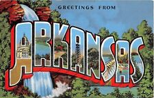 Large Letter postcard Greetings from Arkansas