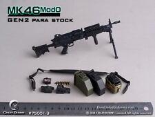 CRAZY DUMMY MK46 MOD0 GEN2 Para Stock Machine Gun 1/6 Black