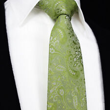Mens Wedding Tie SALE Sage Green Theme Matching Floral Paisley Silk Necktie Gift
