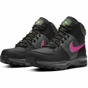 Nike Manoa Leather SE Hiking Boots CW7360-001 Grey Pink Men's Size 8.5 NEW