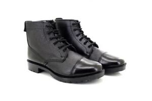 Grafters Traditonal Military Leather 6 Eye Cadet Boots