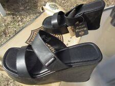 Harley Davidson Woman's Black Flare Sandal # 81561 / Us 9 M / Deadstock