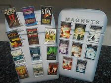 Stephen King Fridge Magnet Set. 20 PCS. Christine, It, Dark Tower. Book Art