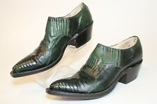 Nocona Womens Size 5 B Lizard Leather Slip On Heeled Western Bootie Shoes 24010
