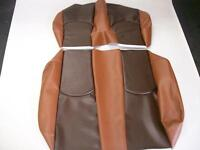 EZ-GO RXV Golf Cart Custom Deluxe Seat Covers-Front and Rear (2 Tone Brown)