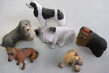 SIX BEAUTIFUL Ceramic/Clay DOGS FIGURINES Summit & Canine Kingdom Collectible