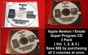 Apple Newton Emate Super Program CD e mate 3 pack (Vol. 1, 2, & 3 in one purch!)