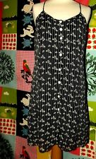 RENE DERHY ROBE DRESS TRENDY  CREPE8 BOUTONS DOS LACé TM OU 38/40