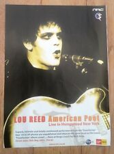 LOU REED American Poet UK magazine ADVERT/Poster/clipping 11x8 inches