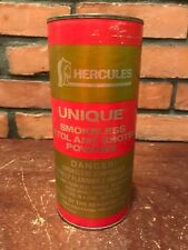 Vintage Hercules Unique Smokeless Rifle Pistol Shotgun Powder Empty Tin 16 oz.