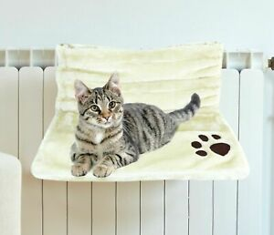 Kitten Cat Pet Bed Hanging Fluffy Radiator Warm Fleece Basket Cradle Hammock UK