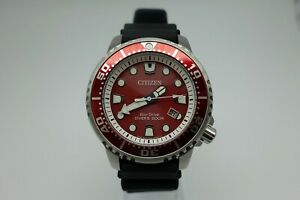 Citizen Promaster BN0159-15X Diver Taucheruhr Eco Drive rot - Full Set !!!