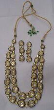 set kundan meena work Antique style 916 22 ct Gold polki Diamond necklace