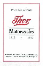 1912-1913 THOR MOTORCYCLE PARTS BOOK IN .PDF FORMAT ON CD ANTIQUE REPRODUCTION