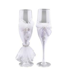 Bride And Groom Champagne Glasss Flutes Wine Glass Bridal Shower Gifts,Set of 2