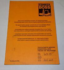 Teilekatalog / Parts Manual Boss Steinbock Gabelstapler Forklift WD 15