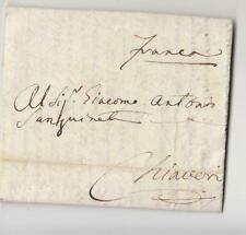 """1823 R.SARDEGNA lettera GENOVA-CHIAVARI+""""Franca""""scritto a mano-i303"""