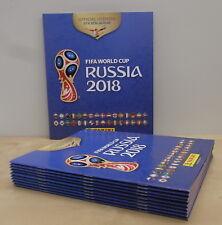 Panini WK 10x Album Empty WC Russia 2018 Edition Benelux