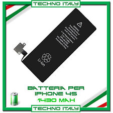 BATTERIA INTERNA  RICAMBIO ORIGINALE PER IPHONE 4S 1430 mAh ✚ ZERO CICLI