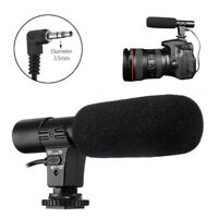 3.5mm Microphone External Stereo Mic for Canon Nikon DSLR Camera DV Cam
