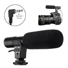 Boya BY-VM190 micrófono escopeta con Zapato Frío Enchufe de Audio 3.5mm para cámara réflex digital