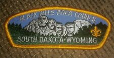 Black Hills Area Council Mount Rushmore Strip Patch BSA Boy Scouts of America SD