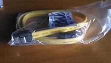 Cable sata para disco duro serial ata 1.5/3/6 Gbits con clip metalico amarillo