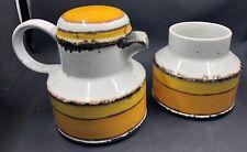 Vintage Stonehenge Midwinter Sun Cream & Sugar Bowl Set Mid Century Style