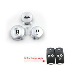 2pcs Remote Key Pad FOB 2&3 Buttons Pad Kit Replacement fit for Honda Accord CRV