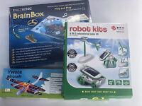 3x CHRISTMAS TOYS  BRAINBOX 80 + 3 in 1 SOLAR KIT + MOTORISED GLIDER EDUCATIONAL