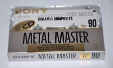 Sony Metal Master 90 Blank Ceramic Composite Audio Cassettes Tape New & Sealed