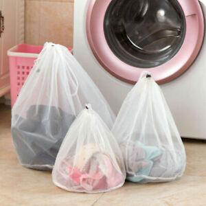 PREMIUM Drawstring LAUNDRY Net Bag Wash Mesh Bra Underwear Small Medium Large UK