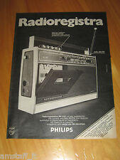 PHILIPS RADIO RADIOREGISTRATORE RR 332=ANNO 1974=PUBBLICITA=ADVERTISING=
