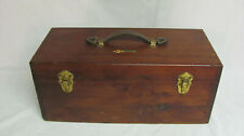 Rare Vintage H-I No 2020 Deluxe Wooden Tackle Box Utica N.Y. Man Cave Wood Lures