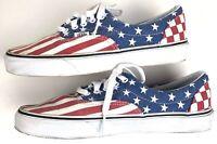 Vans Doren American Flag Shoes Men's size 8.5 Women's 10 Red White Blue