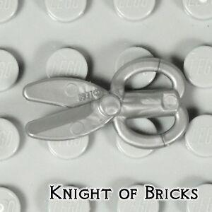 LEGO Minifigure FLAT SILVER Utensil Scissors Tools