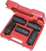 "5 PC 1/2"" Dr FRONT & BACK WHEEL DR 6 Point Deep Spindle Axle Nut Socket Set"