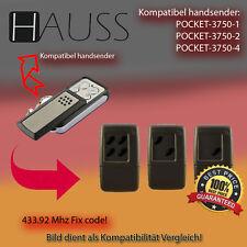 Handsender 433.92 MHz für HAUSS POCKET - 3750-1 , 3750-2 , 3750-4 Antriebe