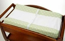 NoJo 2 Pack Dot Changing Table Cover - Sage with Ivory Dots