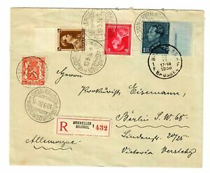 Registered Cover Buxelles 1936 To Berlin, FDC