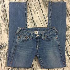 True Religion Women's Size 28/32 Jeans, Johnny Low Rise Medium Wash Flawed