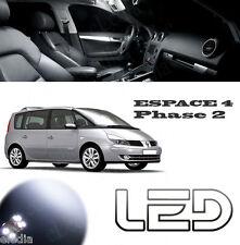 Renault ESPACE 4 PH2 IV 10 Ampoules LED Blanc Plafonnier coffre miroirs Coffre