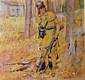 Hugh Charles McBarron jr Goauche Painting The Frontiersman