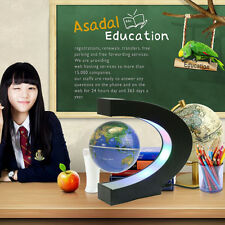 Floating World Globe Magnetic Levitation LED Earth Novelty C Shape Home Decor