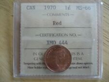 1970 Canada Small Cent Penny ICCS MS-66 Red